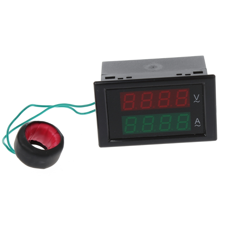 AC80-300V 100A Digital Current Ammeter Voltmeter Dual LED Display Volt Amp Gauge L15