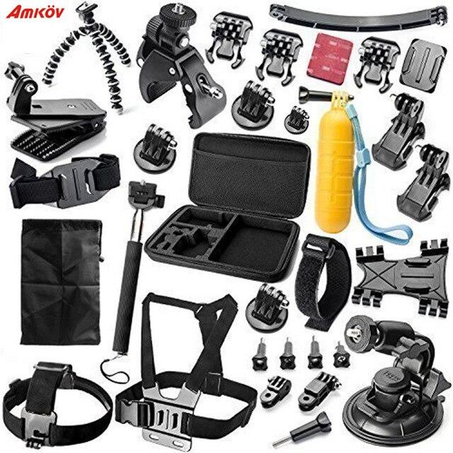 Accessoires caméra d'action kits pour Gopro hero monopode monture pour go pro hero 5 4 3 + sjcam sj4000 xiaomi yi 4 k accessoires