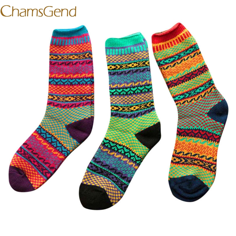 2017 New Durable Fashion sock Men Womens Multi-Color Knitting Socks Casual Cotton Middle Tube Socks#2