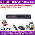 Hot.cctv dvr 8 channel 960H digital video recorder system hdmi 1080p NVR HVR for security ip camera usb 3g wifi with 1TB HDD