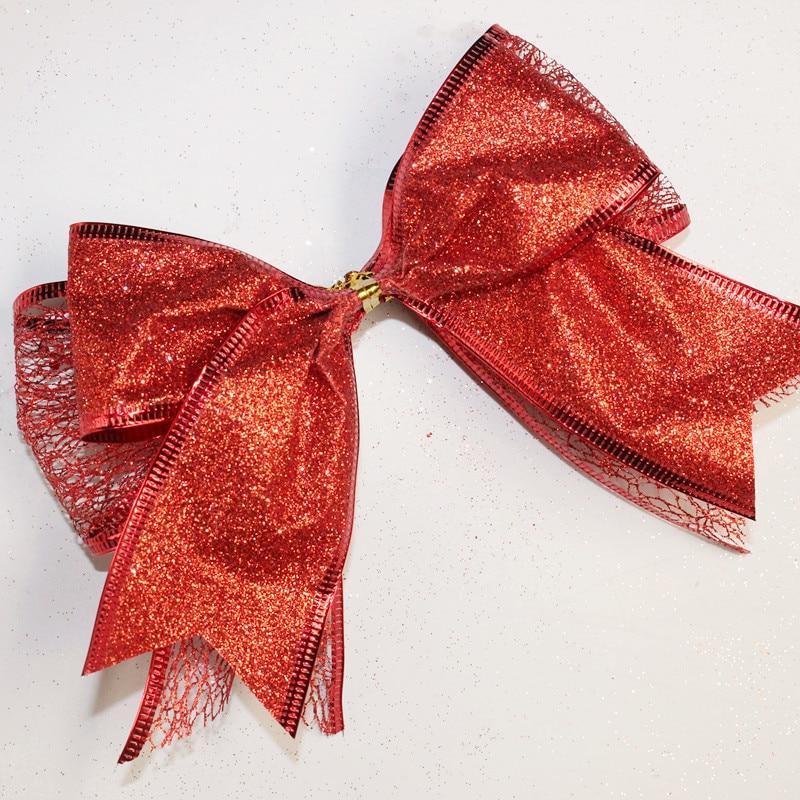 Nuevo arco barato de la cinta Arco de la cinta roja de Navidad Árbol - Para fiestas y celebraciones