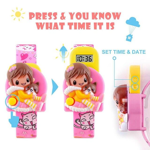 SKMEI Kids Children Watches Cartoon Digital Clock Cute Electronic Watch Fashion Children's Relogio Masculino Wristwatches 1240