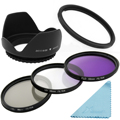 58mm UV CPL FLD Filter Kit + Lens Hood + Cloth for Canon PowerShot SX50 HS SX40 LF297