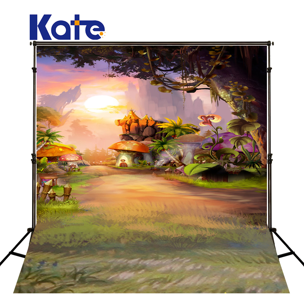 цены на 5X7FT Kate Children Photography Backgrounds Fairy Tale Forest Photo Backdrops Backgrounds Baby Photography Props Backgrounds