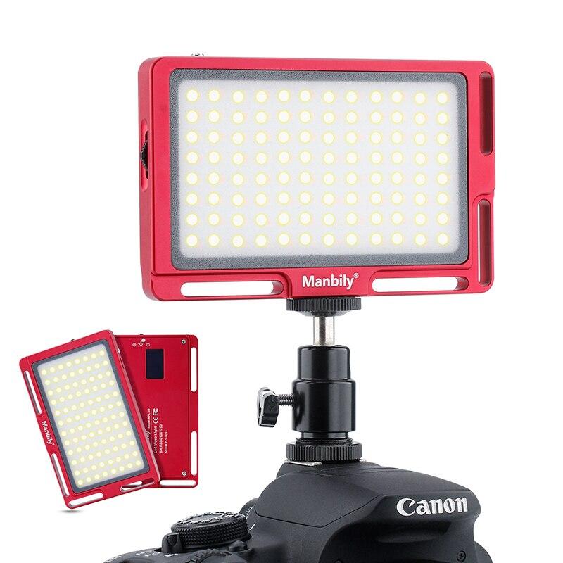 Manbily MFL-03 3500-5700 K Mini LED caméra vidéo lumière Dimmable 96 LED lampe d'éclairage photographique pour reflex numérique Canon Nikon Pentax - 3