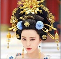 Wu Mei Niang  13pcs Set Fully Handmade Antique Pinach Artwork  Tang  Princess Gold Plated Hair Sticks Hair Accessory Set