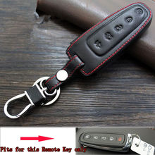 Leather Remote key fobe holder  Holder Chain Cover Case Key fob Fit For Edge Explorer Fusion