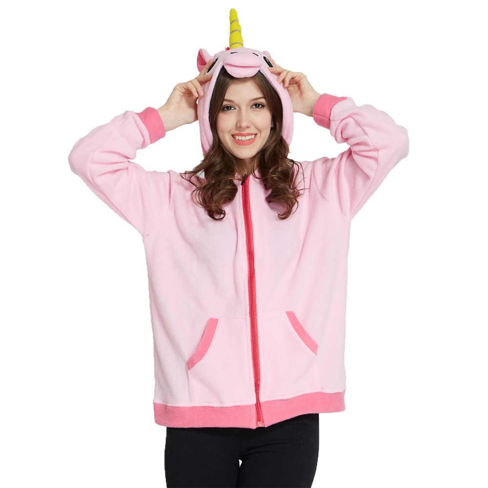 Для женщин толстовки кофты осень зима мультфильм девушка толстовки стежка  динозавров панда Единорог Пикачу животных Толстовка 8aee8035a0339