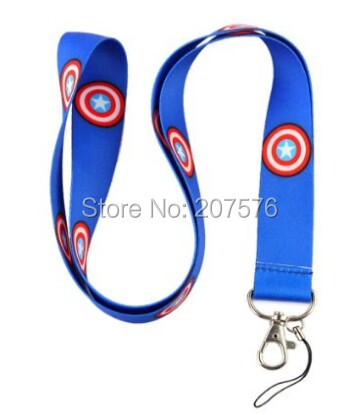 Small wholesale 10pcs American captain  Mobile Cell Phone Lanyard Neck Straps Party Free shipping  H-149
