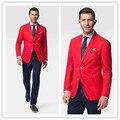 2016 Fashion Party Мужская slim fit пиджак пиджак красный плюс размер Мужской пиджаки Мужские пальто