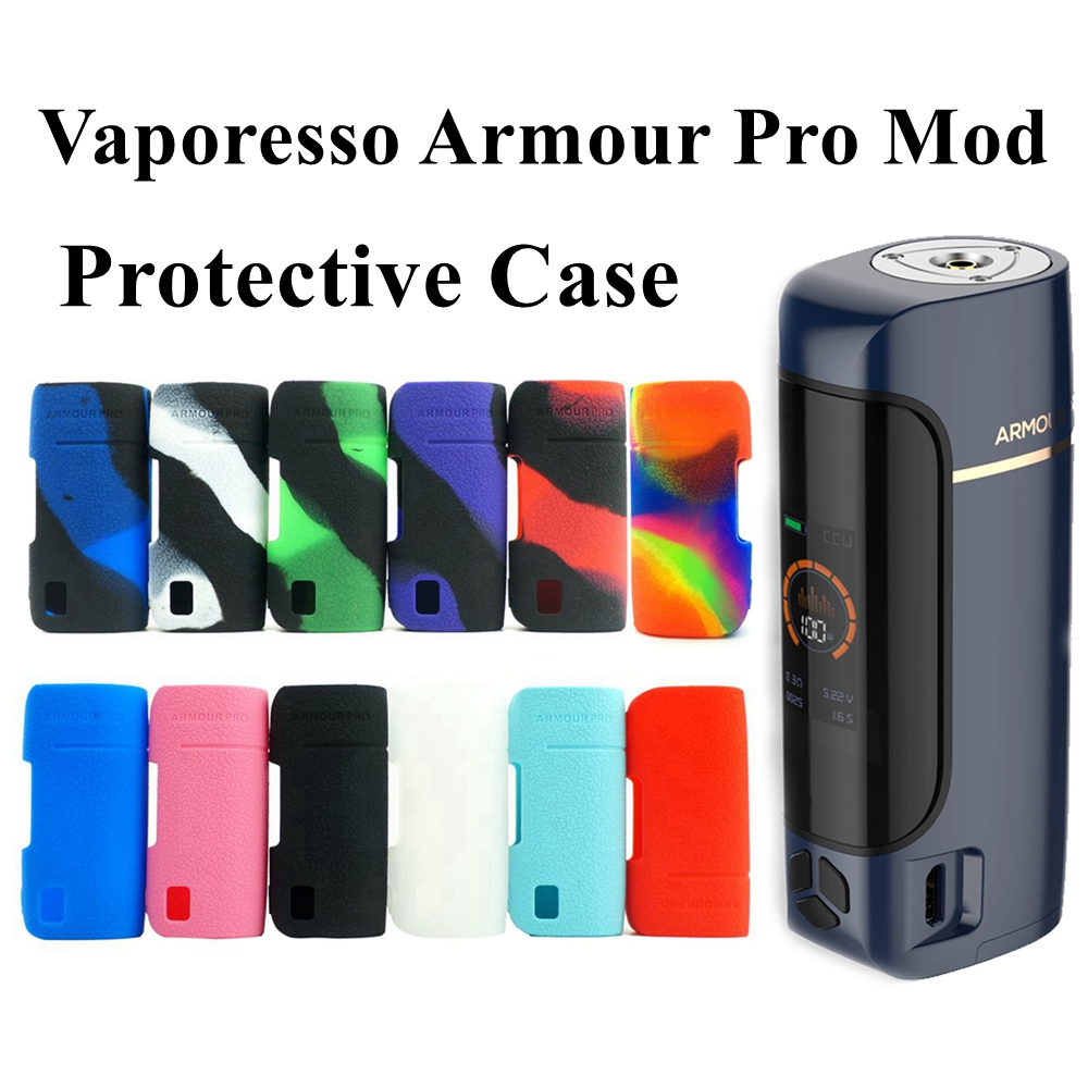 Silicone Case For Vaporesso Armour Pro 100W Vape Cover Rubber Skin Warp Sticker Sleeve Shell Hull Damper Vape Mod Case Shield