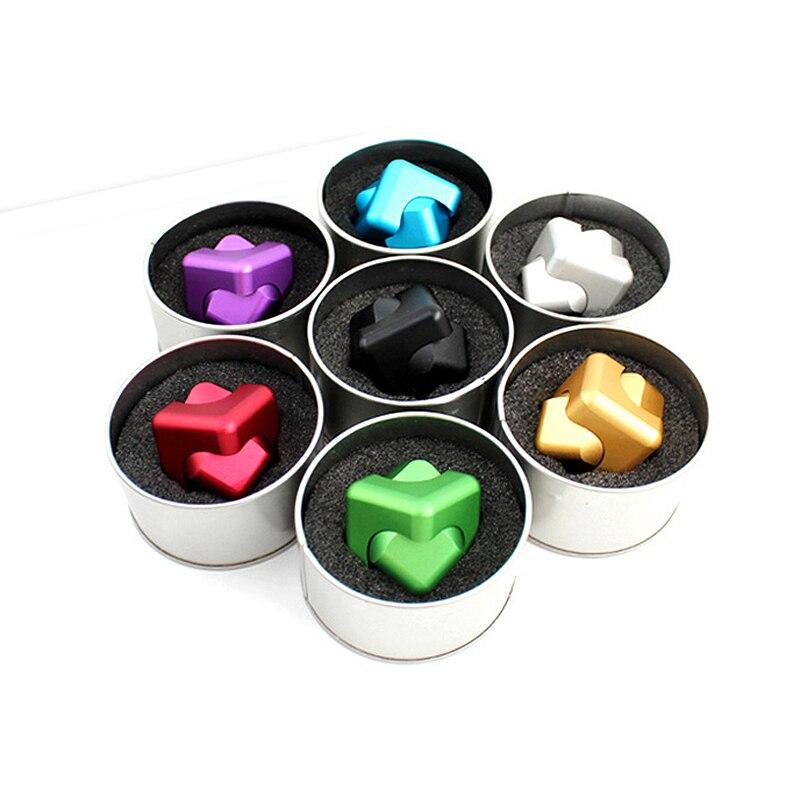Alta Calidad Mano Finger Spinner metal Fidget Cube Modelo Aleación - Juguetes clásicos - foto 4