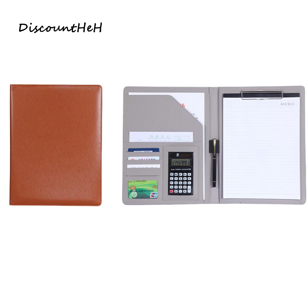 1 pcs  A4 multi-function business office dedicated folder sales manager clip/signing   contract folders a4 leather discolor manager file folder restaurant menu cover custom portfolio folders office portable pu document report cover