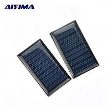 Epoxy do Painel Célula de Energia Módulo em Casa Aiyima 2 PCS 5 V 30ma Solar Fotovoltaico Policristalino DA Célula Painel de Energia DIY Sistem