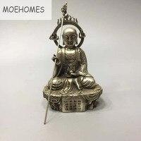 MOEHOMES Tibet Silver ksitigarbha bodhisattva statue Buddha statue metal crafts home decoration