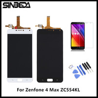 Sinbeda Pantalla For Asus Zenfone 4 Max ZC554KL 5 5 LCD Display Touch Screen Digitizer Assembly