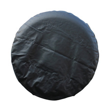 цены 1 pcs PVC Leather Spare Tire Cover Wheel Tire Cover black universal for Jeep CR-V RV SUV trailer truck R14 R15 R17 Tire
