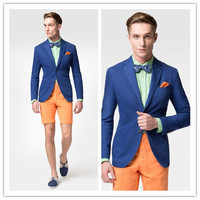 New Spring Fashion Brand blue Blazer Men High Quality 2 button Casual Suit Jacket Men suits blazers