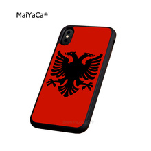 albania flag soft silicone edge mobile phone cases for apple iPhone x 5s SE 6 6s plus 7 7plus 8 8plus XR XS MAX case