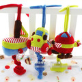 Multifunctional 1pc plush pacify doll Car airplanes hang bell BB music around bed safety rattles teether baby odontoprisis toy