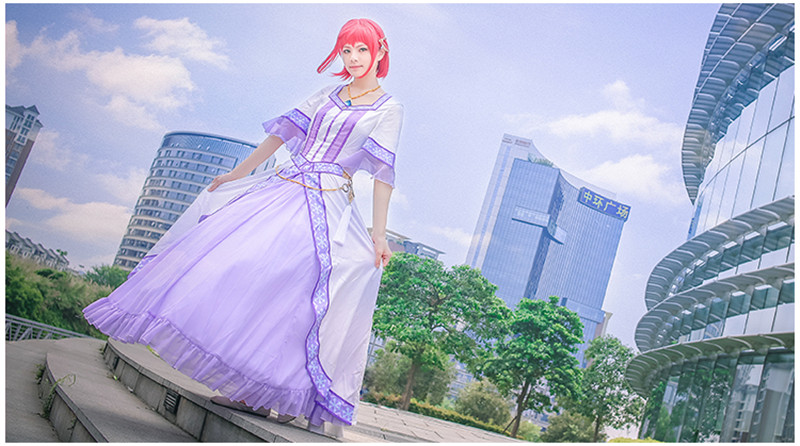 Snow pincess with the Red Hair princess cosplay costume ED dress Free Shipping