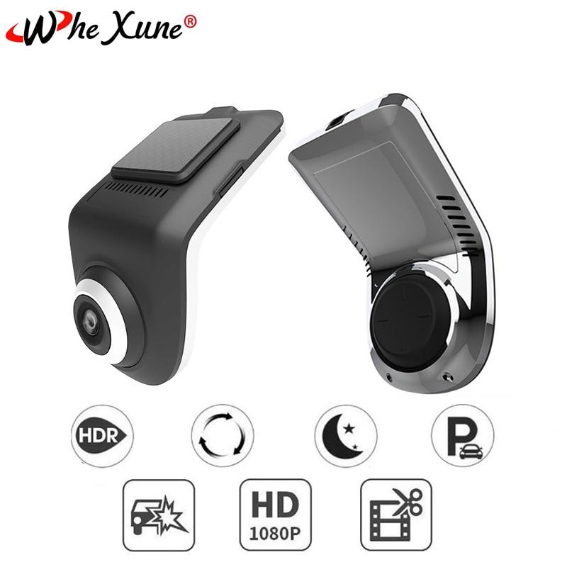 Whexune original u3 mini hd câmera do carro adas usb câmera dvr carro gravador de vídeo automático traço cam para android sistema navegação jogador