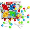 Envío gratis juguetes educativos para niños grandes magicaf hechos a mano con cuentas combinación de puzzle 36
