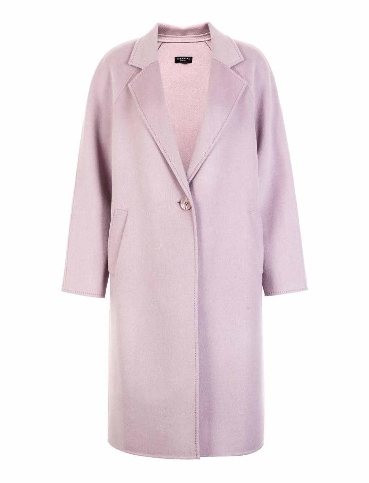 Vero Moda Women's new 100% wool double-sided single buckle minimalist woolen overcoat | 318327505 25
