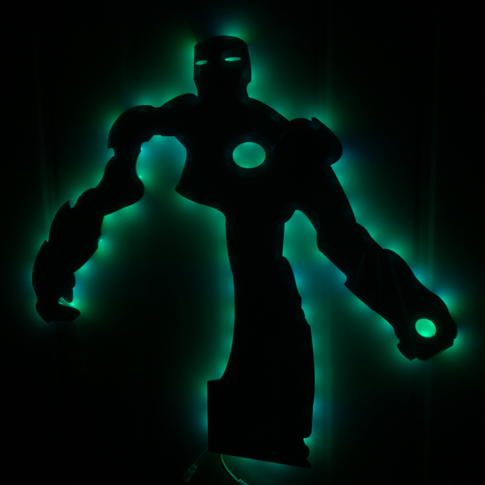 Free shipping 1piece marvel hero the avengers iron man hanging free shipping 1piece marvel hero the avengers iron man hanging mirror wall lamp color change with remote controlled party decor in glow party supplies from aloadofball Choice Image