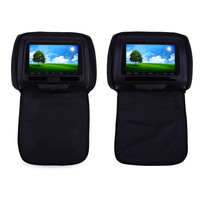 Paired XD783 7 Inch Car Headrest DVD Player 800 X 480 High Resolusion LCD Backseat Monitor