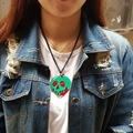 108n kawaii estilo cool green apple skeletion acrílico colar pingente