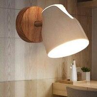 Lâmpada de parede led luzes de parede para o quarto espelho do banheiro luz loft luzes da escada nordic simples lâmpadas de madeira para casa led luzes da noite|Luminárias de parede| |  -