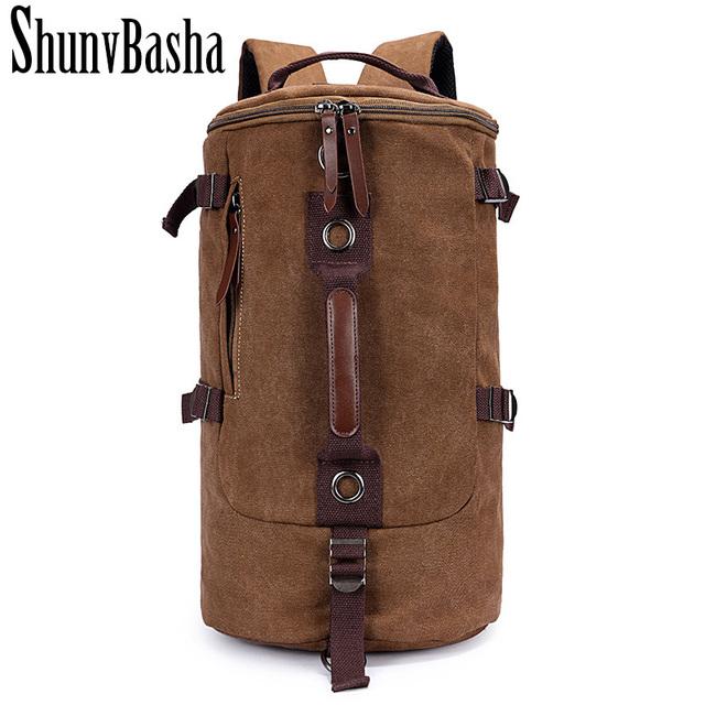 Alta Calidad Promoción Diseñador de Moda Vintage Lienzo Tamaño Grande Hombres Bolsas de Viaje Mochilas de Equipaje