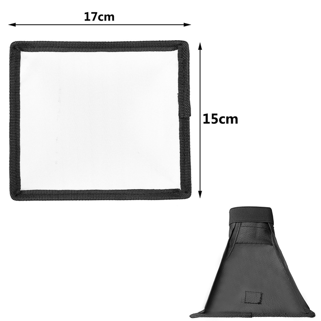 Universal Flash Diffuser Light Softbox Collapsible Speedlite Translucent Soft Box with Carry Bag For DSLR Camera Speedlights 6