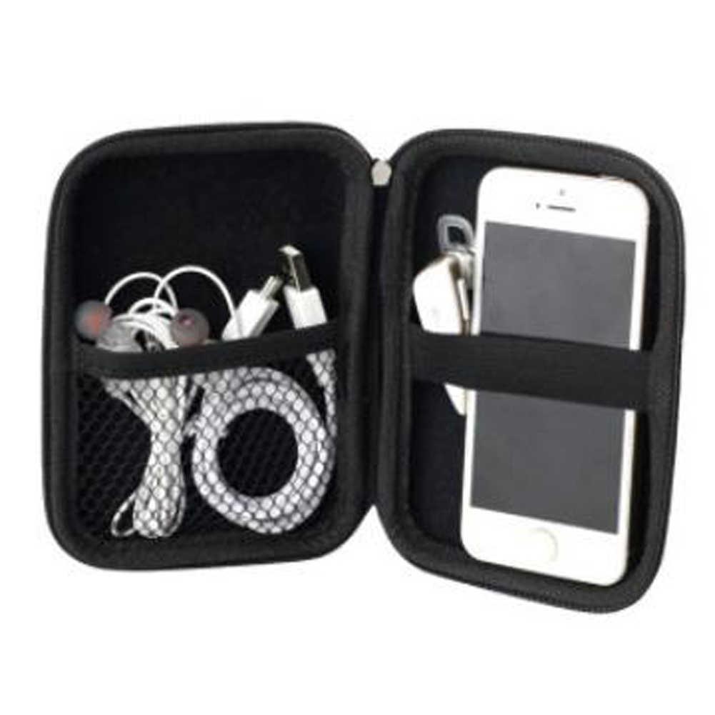 """2.5 """"Portable Hard Disk Case Tas Ritsleting untuk Eksternal Hard Drive Disk/Elektronik Tas Organizer Kabel/Powerbank/Mp5 HDD Kotak Tas"""