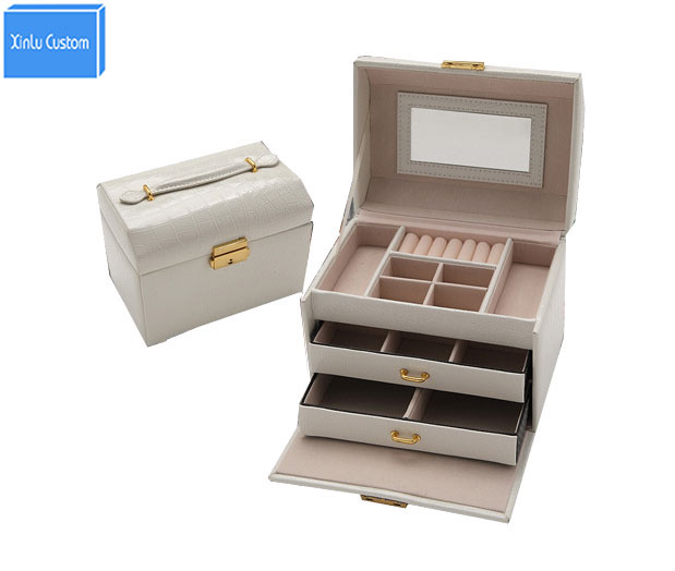 Multifunction Women Gift Box Collect Boxl Leather Travel Suitcase Watch/Jewelry Cosmetic Case Organizer DIY Storage Case Drawer travel aluminum blue dji mavic pro storage bag case box suitcase for drone battery remote controller accessories