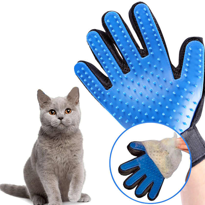 Pet расческа для собаки перчатки для домашних животных очистки массаж Уход за лошадьми гребень поставить палец очистки домашних кошек щетка для волос перчатки для животных
