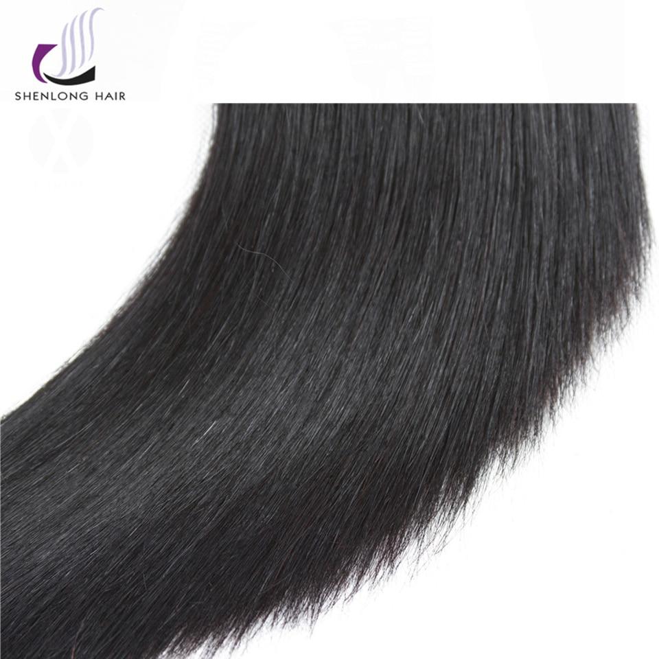 SHENLONG HAIR Mongolian Straight Human Hair Bundles 8-26 tums - Mänskligt hår (svart) - Foto 6