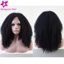 Glueless Brazilian Virgin Human Hair Kinky Curly Lace Front Wigs 130 Density Afro Kinky Curly Full Lace Wigs For Black Women