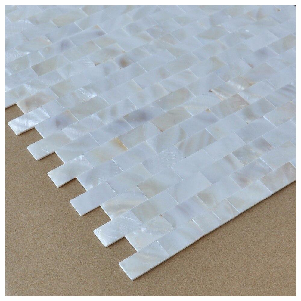 6 Pack Weiße Muschel Mosaik fliesen für Küche Wandanschluss/Dusche ...