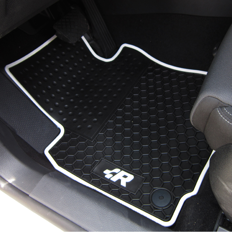 special rubber pads wear waterproof green latex car floor mats for VW Golf 6 Scirocco R Octavia Sagitar GTI