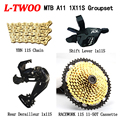 LTWOO AT11 набор для горного велосипеда 11 скоростей переключения скоростей + задний переключатель передач + RACEWORk 11-50TCassette + YBN 11 S Chain Набор из 4 пред...