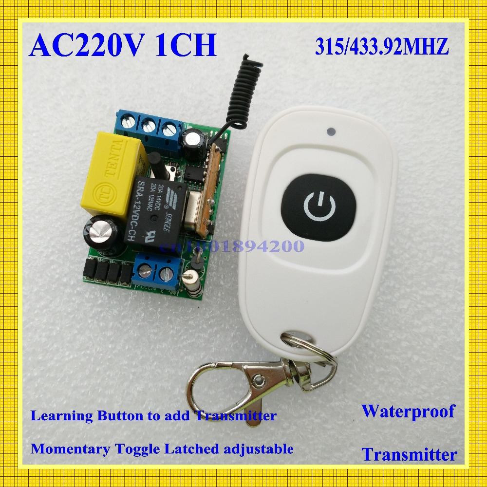 Input 220V Output 220V RF Wireless Switch 1 CH Light Lamp LED SMD Home Appliances Power Remote Switch ON OFF smart home315/433