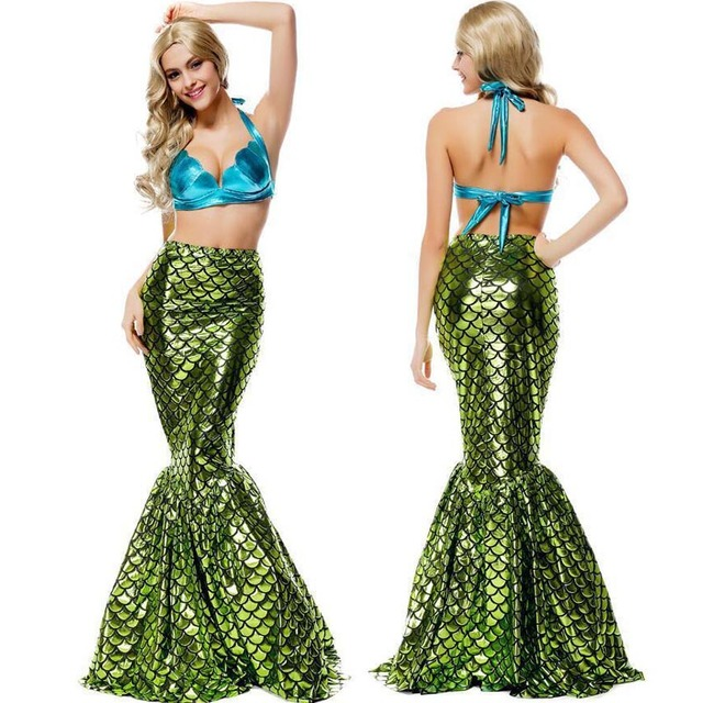 Mermaid Costume Halloween Cosplay Costume Adult Women Mermaid Costume Sexy Mermaid Tail Costume Set Including Top  sc 1 st  AliExpress.com : cheap mermaid costumes  - Germanpascual.Com