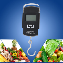 50kg x 0.001kg Precise LCD Digital Display Hanging Luggage Weight Fishing Hook Weighing Scale Mini Kitchen Hanging Weight