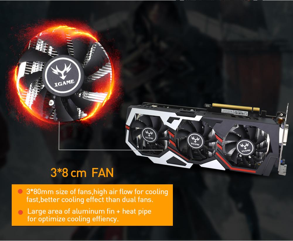 красочные NVIDIA серии GeForce GTX для флэшка 8 гб GDDR5 с 256-битной шины PCI графического процессора 1070 топ-ex16 3, 0x16 игры видео с DVI + HDMI кабель + 3DP по 3 поклонников графика карты