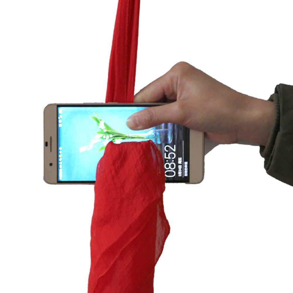 Funny Silk Magic Prop bufanda a través del teléfono magia bufanda para trucos Juguetes Para escenario para magos herramientas de magia