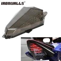 Motorcycle Tail Light Integrated Brake Turn Signal Lamp Indicator Smoke Lens Color For Yamaha R6 YZF
