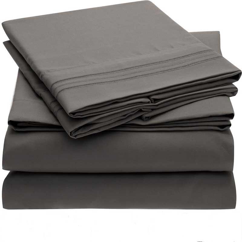 Hot North American zahraniční obchod solidní čtyřdílný, plochý list + vybavený list + povlak na polštář, sukno z jemných vláken