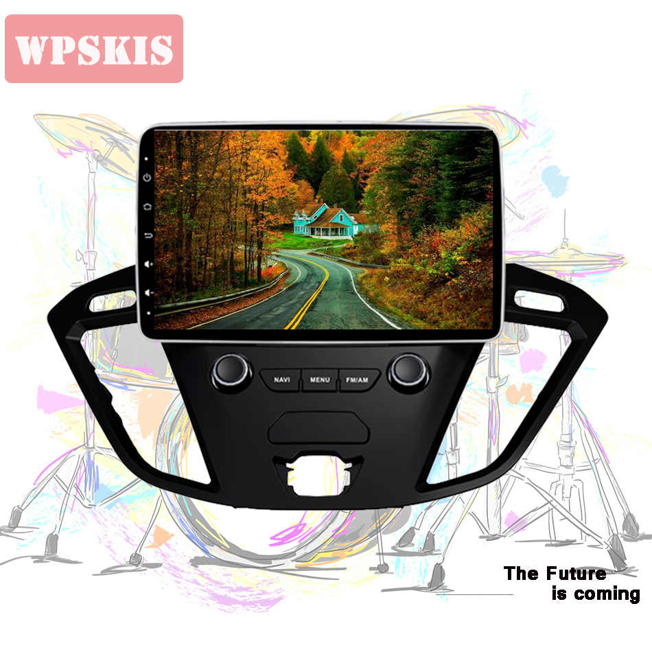 9 ''ips hd écran en tableau de bord voiture musique vidéo stéréo pc tablette headunit pour Ford Tourneo Transit personnalisé 2013 + Android 9.0 CarPlay bt